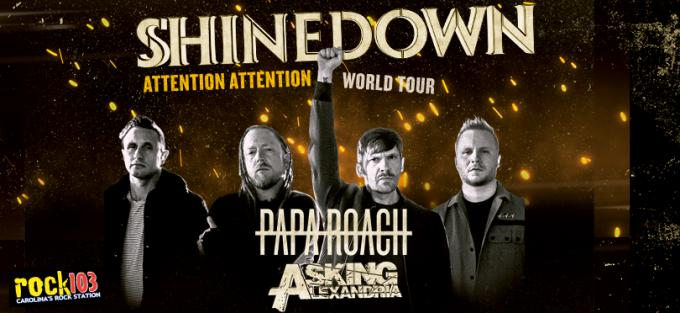Shinedown, Papa Roach & Asking Alexandria at Videotron Centre