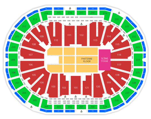 videotron center seating chart